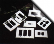GLASS & MIRROR SWITCH PLATES